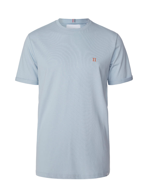 Les Deux MEN Nørregaard T-Shirt T-Shirt 435730-Dust Blue/Orange