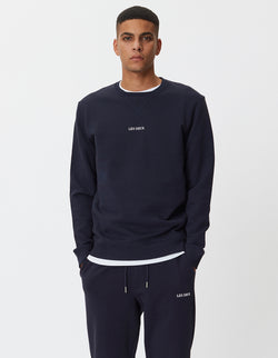 Les Deux MEN Lens Sweatshirt Sweatshirt 460201-Dark Navy/White
