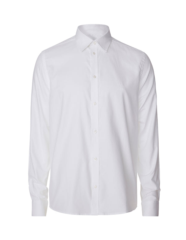 Les Deux MEN Winston Pinpoint Oxford Shirt Shirt 201201-White