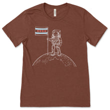 Load image into Gallery viewer, Take me to the Moon! Astronaut with Chicago Flag Unisex T-shirt!