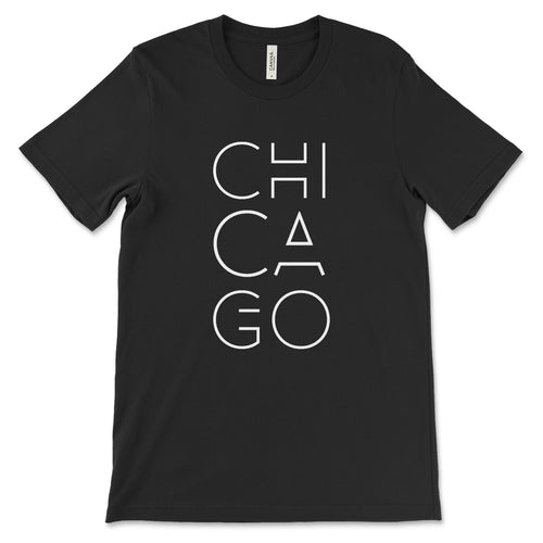 Stylish CHICAGO Design White ink Unisex T-Shirt