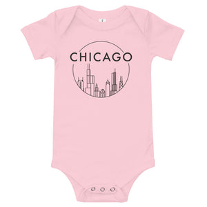 Chicago Skyline Design Onesie