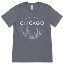 Load image into Gallery viewer, Chicago Skyline Design Unisex T-Shirt