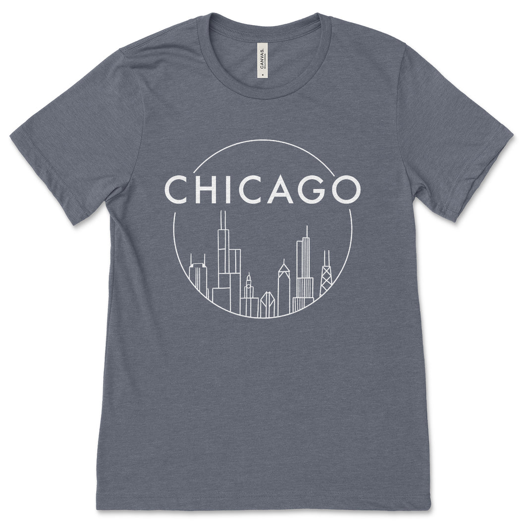 Chicago Skyline Design Unisex T-Shirt