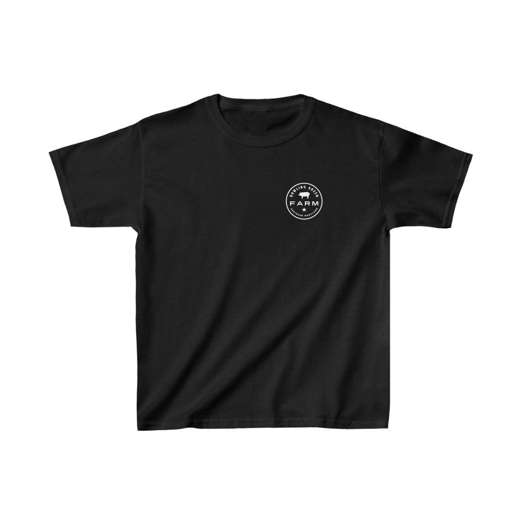 Children's Bowling Green Farm Black Logo T-Shirt