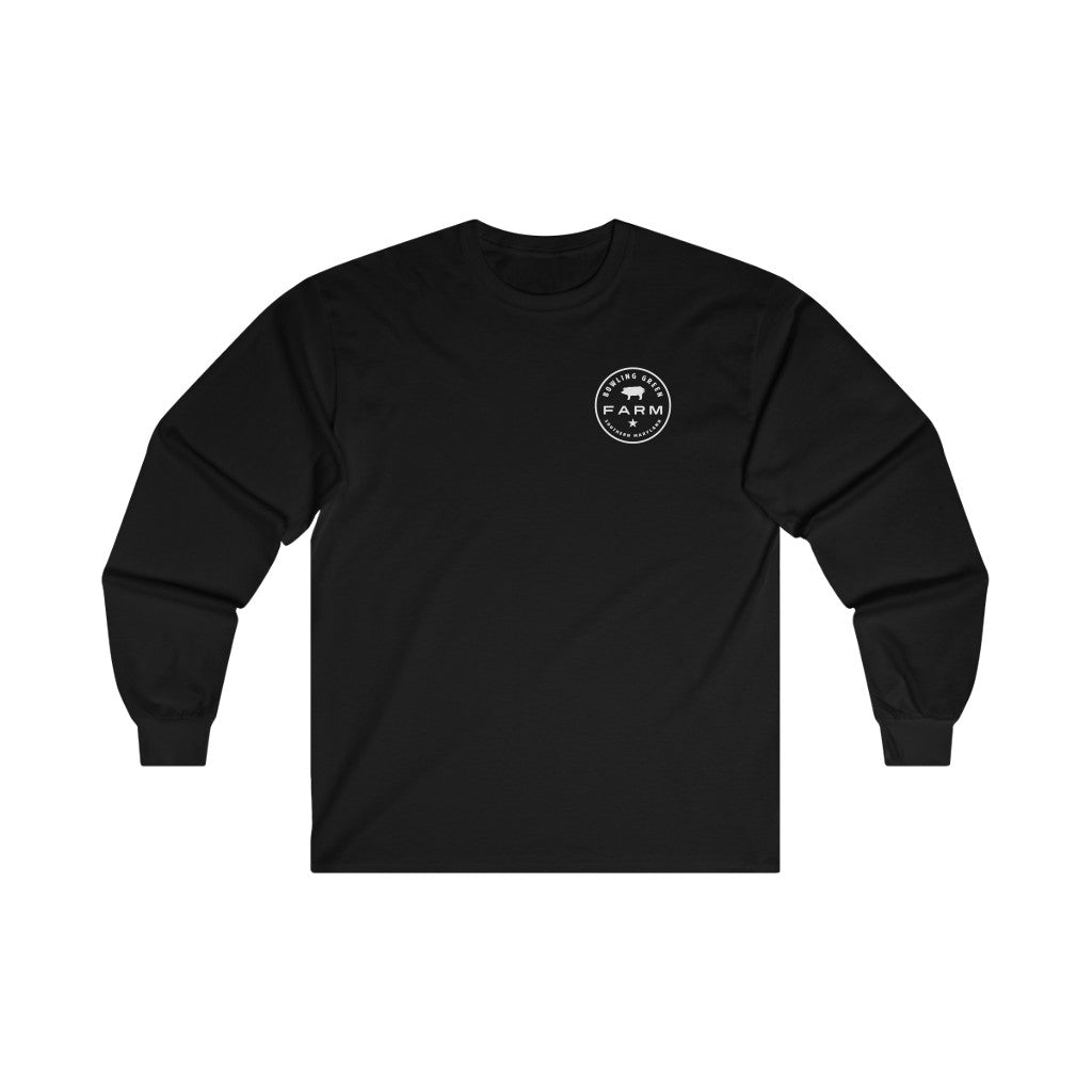 Bowling Green Farm Black Logo Long-Sleeve T-Shirt
