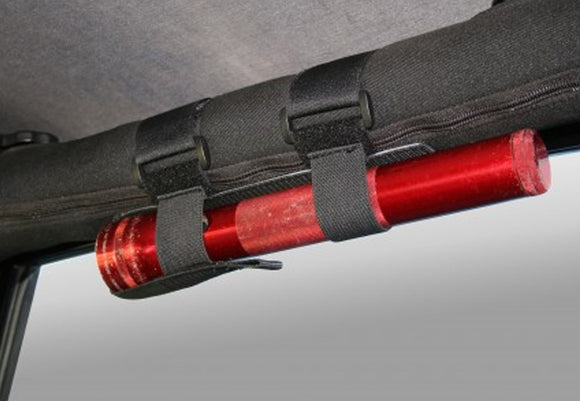 11205.20 Rugged Ridge Flashlight Holder, Sport Bar Mounted, Black, Wrangler red