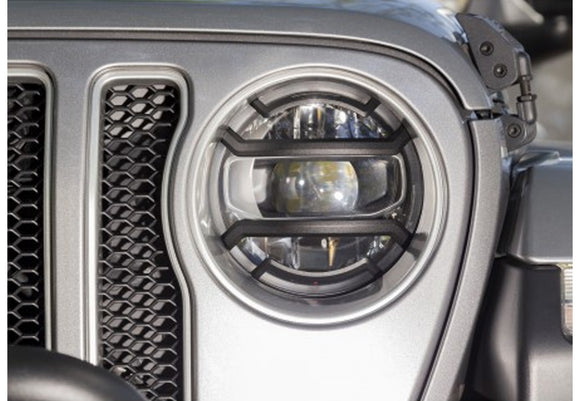 11230.21 Rugged Ridge Elite Headlight Guards, Black, Gladiator, Wrangler