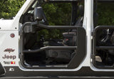 11509.13 Rugged Ridge Fortis Tube Doors, Gladiator, Wrangler mirror