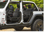 11509.13 Rugged Ridge Fortis Tube Doors, Gladiator, Wrangler installed mirror