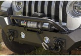 11548.41 Rugged Ridge Spartan Front Bumper with High Clearance Ends and Overrider, Gladiator, Wrangler Side