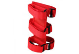 13305.20 Rugged Ridge Fire Extinguisher Holder, Sport Bar Mounted, Red, Wrangler close