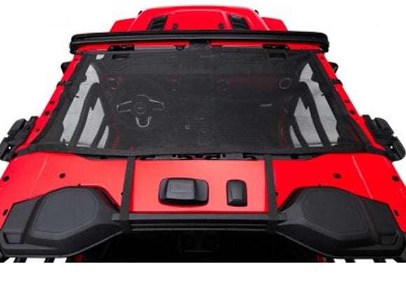 13579.72 Rugged Ridge Soft Top Front Eclipse Sun Shade, Black, Gladiator, Wrangler Installed