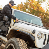 ARIES 1501306 Windshield Light Bar and Brackets, Gladiator, Wrangler Installed