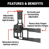 ARIES 2563001 Heavy-Duty Spare Tire Carrier Details