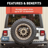 ARIES 2563001 Heavy-Duty Spare Tire Carrier Tires