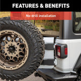ARIES 2563001 Heavy-Duty Spare Tire Carrier Install