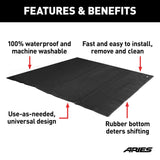 "3149-09 ARIES Seat Defender 60"" X 60"" Temporary Black Cargo Blanket Features"