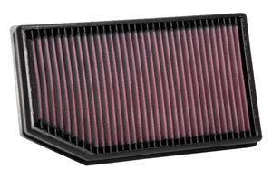 33-5076 K&N Cleanable Air Filter, Gladiator, Wrangler JL, 3.6L V6, 2.0L I4