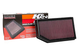 33-5076 K&N Cleanable Air Filter, Gladiator, Wrangler JL, 3.6L V6, 2.0L I4 Box