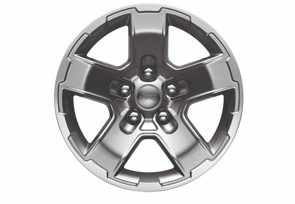 77072471AB Genuine Jeep 17 Inch Cast Aluminum Gear Design, 2020 Gladiator, 2018-2019 Wrangler