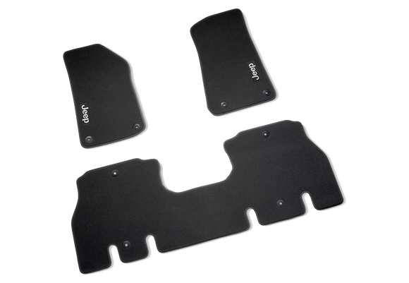 82215200AC Jeep Mopar Premium Carpet Floor Mats, Wrangler 4 Door
