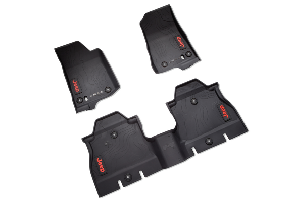 82215203AE Jeep Mopar All-weather Floor Mats