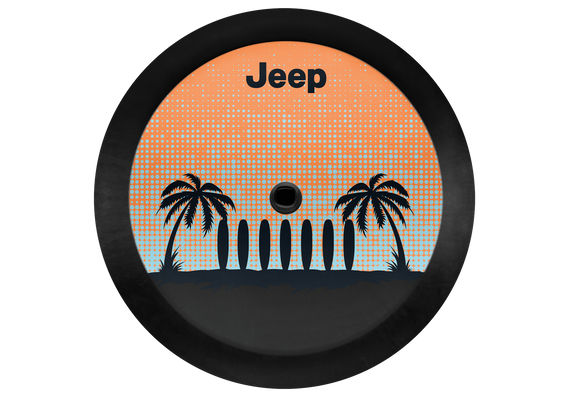 82215431 Jeep Mopar Palm Tree Tire Cover, 2018-2019 Wrangler