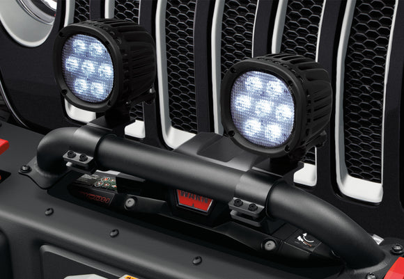 Jeep Mopar Winch Guard Light Mounting Bracket, 2020 Gladiator, 2018-2020 Wrangler