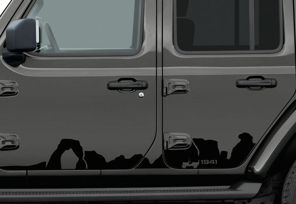 82215732 Jeep Mopar 1941 Mountain Lower Bodyside Graphic, Wrangler 4 Door