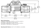 89305 Warn Zeon 8-S Winch, Jeep, Gladiator, Wrangler diagram