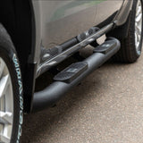 "AL231009 ARIES Big Step 4"" Black Aluminum Round Side Bars"