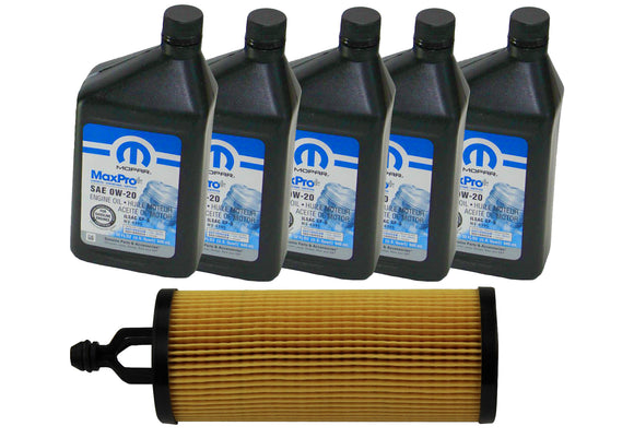 OCK36 Jeep Mopar Full Synthetic Oil Change Kit, Gladiator, Wrangler, 3.6L V6