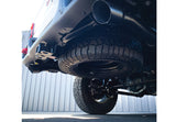 S5538BLK MBRP Jeep 2.5 Inch Cat Back Dual Exhaust Rear Exit, Gladiator, Engine 3.6L V6 installed