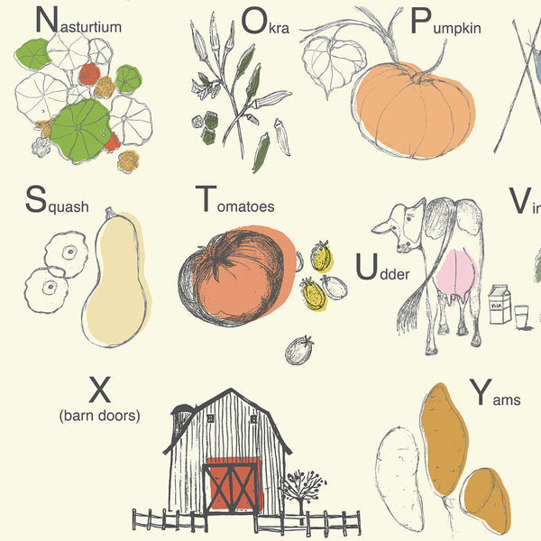 Alphabet Harvest Wall Hanging