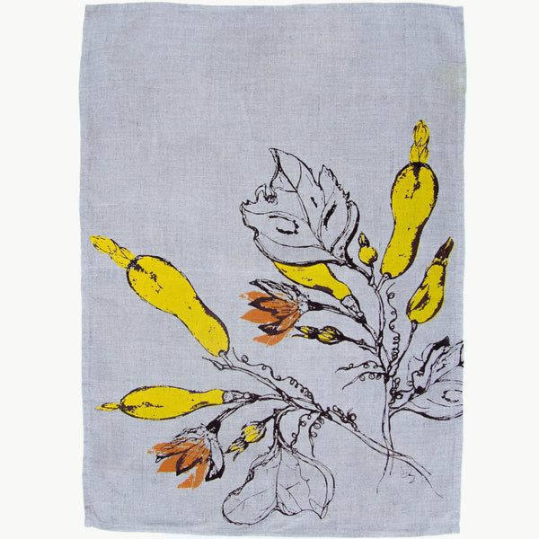 Squash + Blossoms Tea Towel