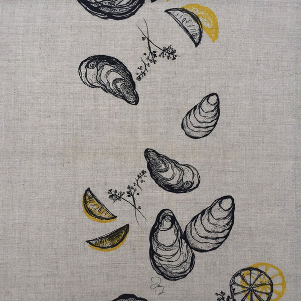Oyster + Lemon Napkins (set of four)