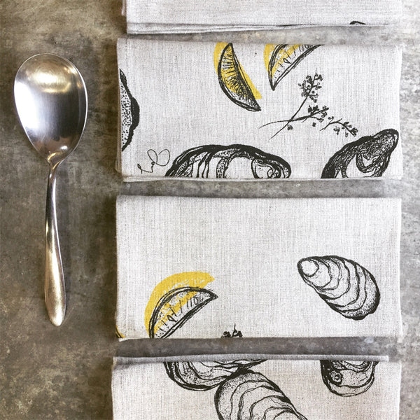 Oyster + Lemon Napkins