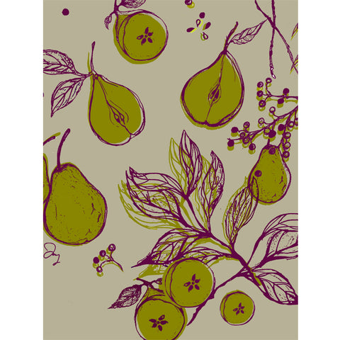 Pear + Elderberry Textile Print