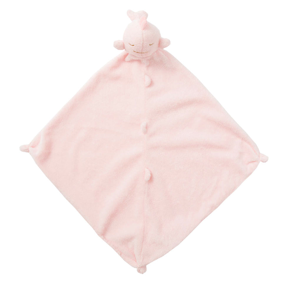Pink Plush Whale Baby Girl Blankie