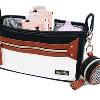 Itzy Ritzy stroller caddy coffee cream organization diaper bags accessories stroller