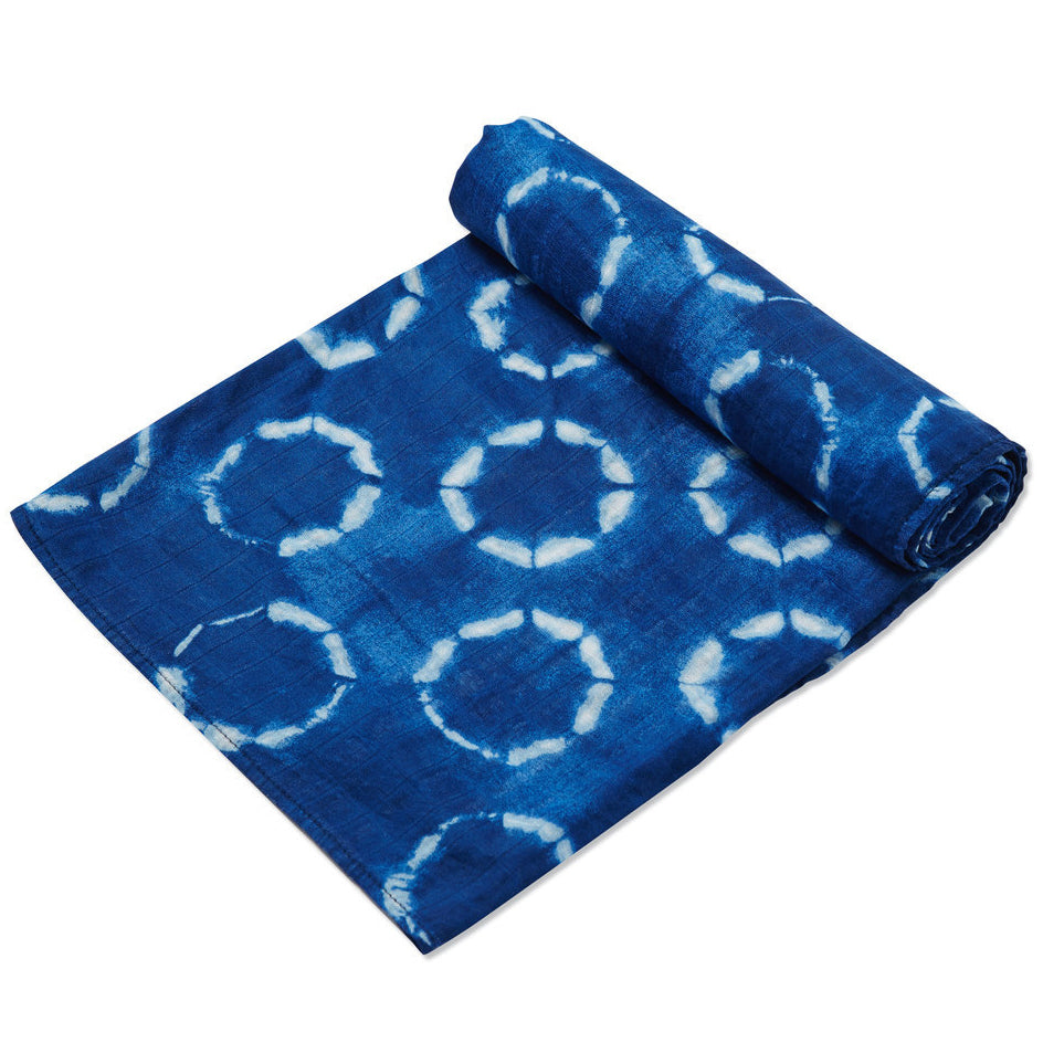 Shibori Circles Swaddle Blanket