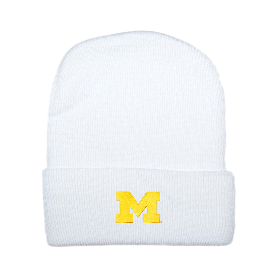 U of M Beanie - White