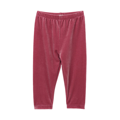 Pink Velour Leggings