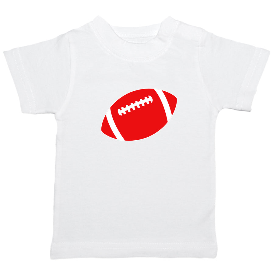Creative Knitwear White Red Football OSU Ohio State University College Tee Toddler Tadpoles & Tiddlers Bath Akron Cleveland Ohio