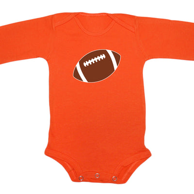 Cleveland Browns Football Orange Brown Long Sleeve Baby Onesie Tadpoles & Tiddlers Cleveland Bath Akron Ohio
