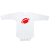 Creative Knitwear White Red Football OSU Ohio State University College Team Baby Long Sleeve Onesie Tadpoles & Tiddlers Akron Bath Cleveland Ohio