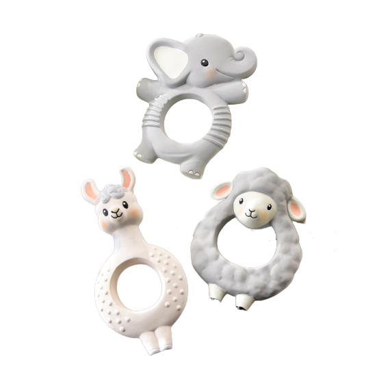 Natural Rubber Ring Teethers