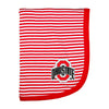 Creative Knitwear Red White Stripe OSU Ohio State University College Football Baby Blanket Tadpoles & Tiddlers Bath Akron Cleveland Ohio