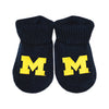 Creative Knitwear University of Michigan U of M Football College Navy Gold Socks Booties Baby Tadpoles & Tiddlers Bath Akron Cleveland Ohio